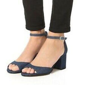 New Sam Edelman Ankle Strap Block Heel Sandals 7.5